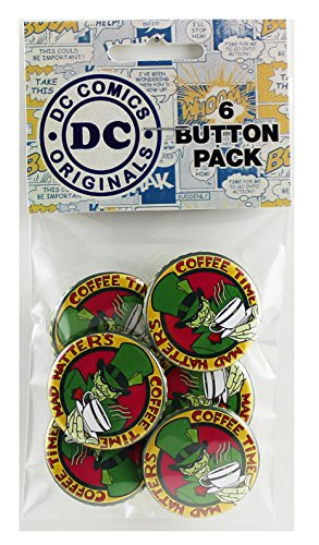 Button set DC Comics Batman Mad Hatter Button (6-Piece), 1.25