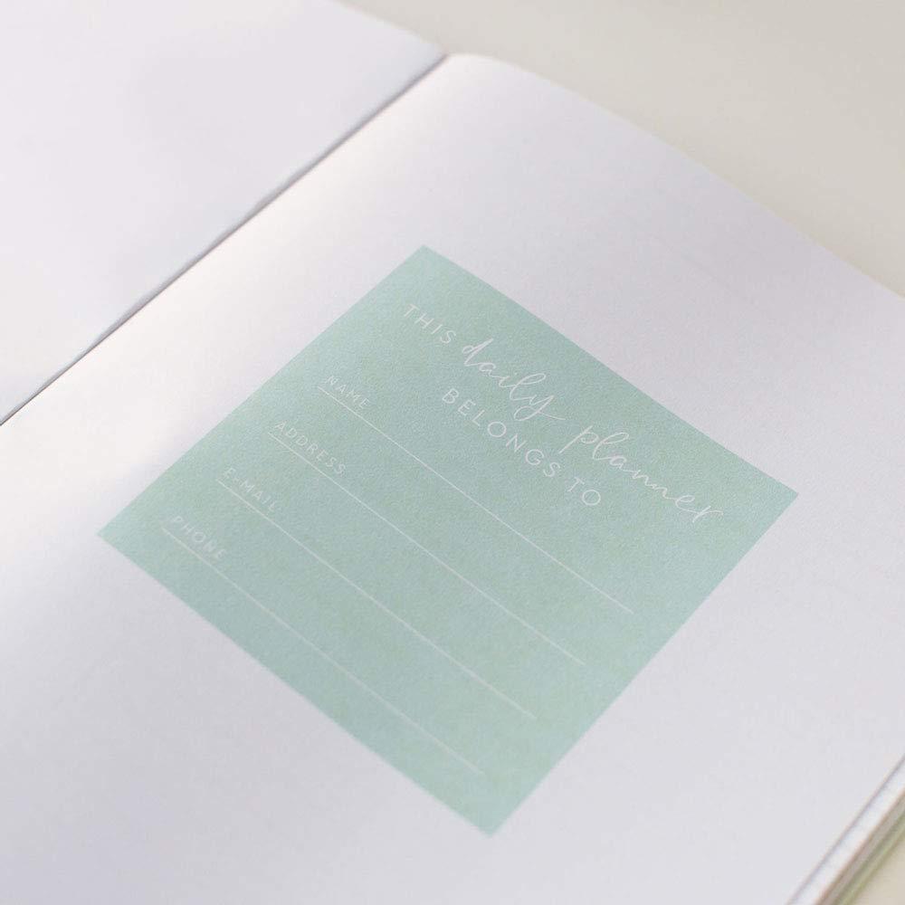 172 pages 29,7 x 21 cm Mindfulness undatiert A4 Menthe avec film dor/é JO /& JUDY Agenda journalier