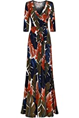 Bon RosyProduct DescriptionThis sleek and sexy maxi wrap dress is a must have! This gorgeous Faux wrap maxi features a v-neck line, 3/4 sleeves, and ties around the waist making it flattering for all body types. This maxi can be effortlessly ...