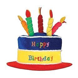 Beistle 60717 Plush Birthday Cake Hat