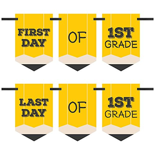 Dots 1 Big (Big Dot of Happiness 1st Grade - Back To School - First & Last Day of School Bunting Banner Photo Prop)