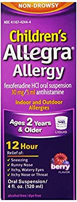 Allegra Childrens 12 Hour Allergy Relief, Berry, 16-Ounce Pack