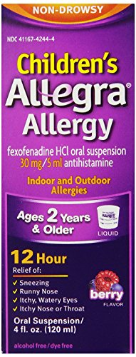 Allegra Childrens 12 Hour Allergy Relief, Berry, 16-Ounce Pack Allegra-6l