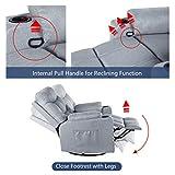 Esright Grey Fabric Massage Recliner Chair 360