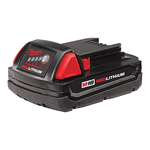 Milwaukee M18 48-11-1815 Compact 18V 1.5 Amp Hour Red Lithium Ion Battery w/Onboard Fuel Gauge (Milwaukee Compact)