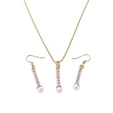 Amazon simple tower design cz diamond pendant necklace with simple tower design cz diamond pendant necklace with dangle earring jewelry set aloadofball Images