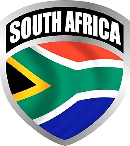 Vinyl Overlays 720 South Africa African Flag Shield Decal Badge Car Motorcycle Decal Sticker Car Bumper Window V