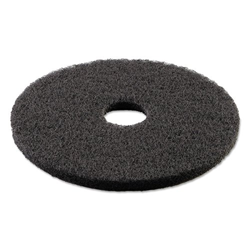 "Boardwalk 4013BLA Standard Stripping Floor Pads, 13"" Diameter, Black (Case of 5)"