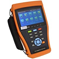 Ctronics 4.3 Inch Touch Screen IP Camera CCTV Tester,CVI/TVI/AHD 3 IN 1 Tester IPC4300ADH, 12V/2A Power Output, 5V 2A Power Bank, PoE, HDMI Output, WIFI, Compatbile with Hikvision, Dahua