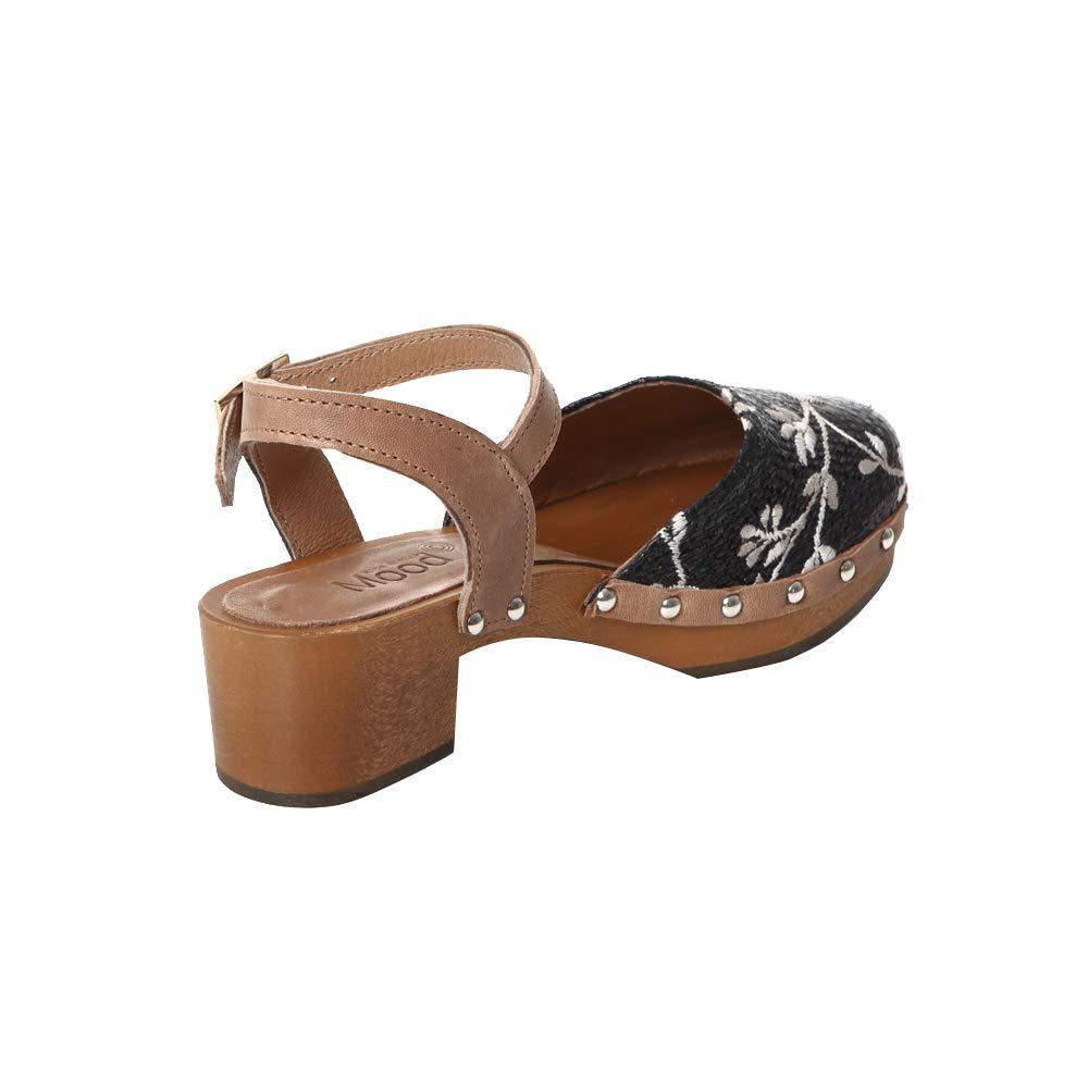 Sandalo in Legno Legno Legno Basso fiorato fd10ec