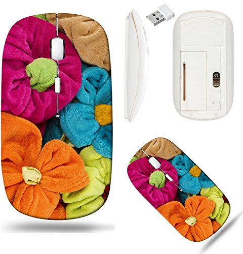 Terry Stack - Liili Wireless Mouse White Base Travel 2.4G Wireless Mice with USB Receiver, Click with 1000 DPI for notebook, pc, laptop, computer, mac book stack of colored terry towel shape of a flower 28500849