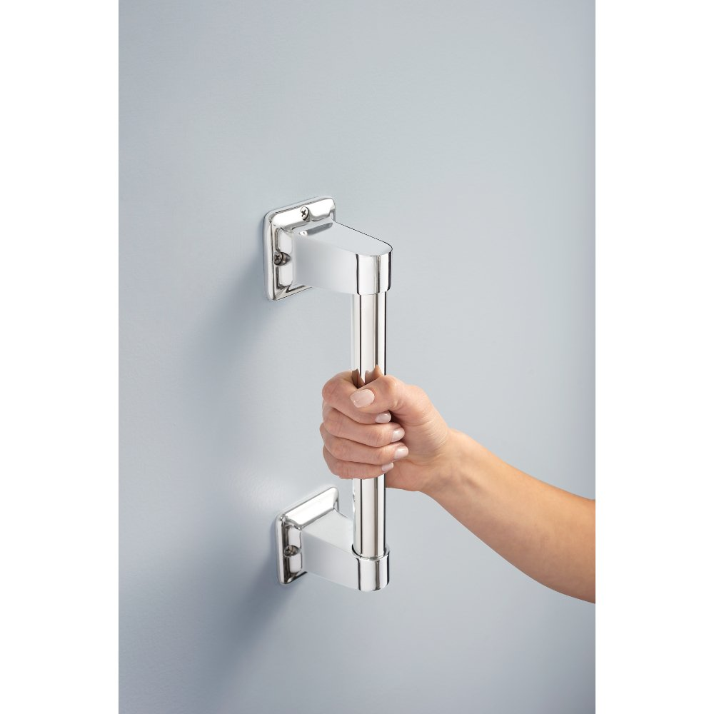 Delta DF509PC 9'' x 7/8'' Exposed Screw Residential Assist Bar, Polished Chrome by Delta (Image #3)
