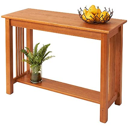 Manchester Wood Mission Sofa Table   Golden Oak