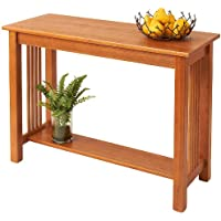 Manchester Wood Mission Sofa Table - Golden Oak