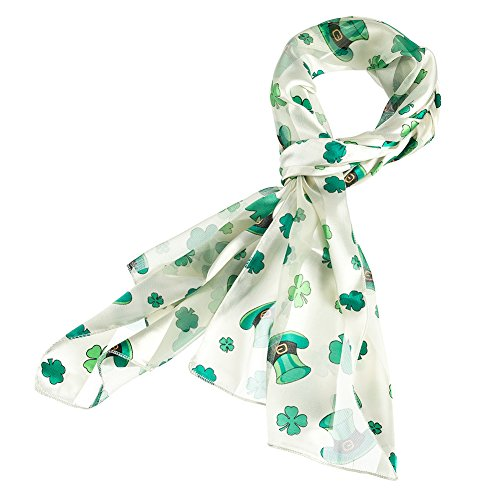 Purple Box Jewelry Shamrock Scarf One Size (Ivory Hat)