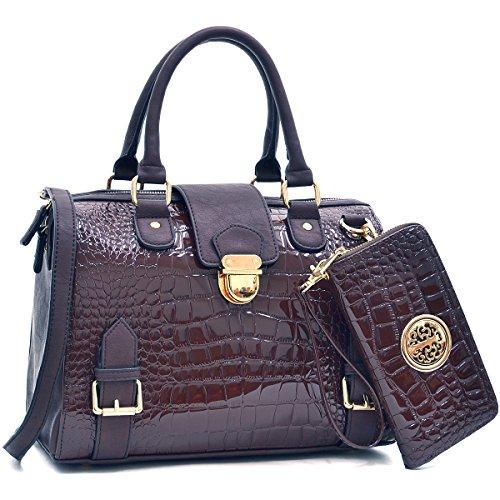 dasein-fashion-designer-satchel-handbag-croco-structured-purse-with-croco-coin-purse-shoulder-strap