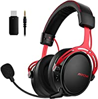 Mpow Air 2.4G Wireless Gaming Headset for PS4/PS5/PC Computer Headset with Dual Chamber Driver, 17-Hour of Wireless...