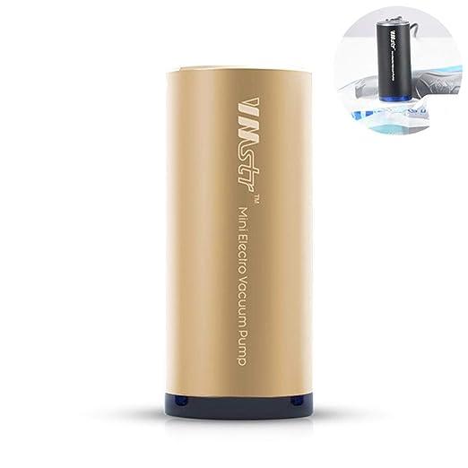 FOONEE Mini Máquina De Sellado Al Vacío, Bomba De Vacío Eléctrica Portátil con Alimentación por USB con Bolsa Espacial BPA Gratis, Bolsas De Ahorro De ...