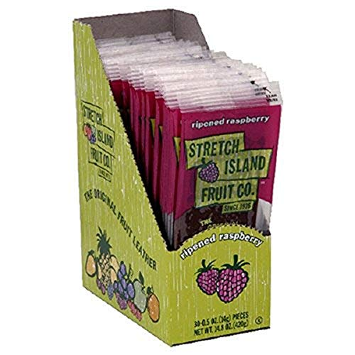 Stretch Island Fruit Leather, Raspberry, 0.5-Ounce Fruit Strips (Pack of 60)