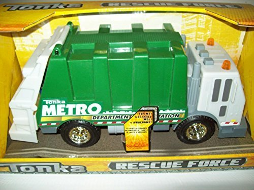 Tonka Toy Trucks (NEW! Tonka Rescue Force Garbage Truck w/Lights & Sound Green Sanitation)