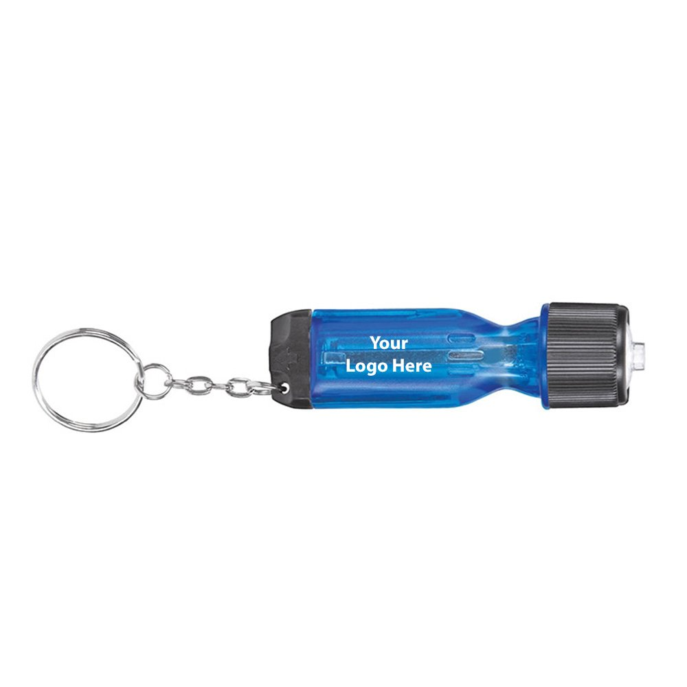 Flashlight Keychain Tool - 250 Quantity - $1.75 Each - PROMOTIONAL PRODUCT / BULK / BRANDED with YOUR LOGO / CUSTOMIZED