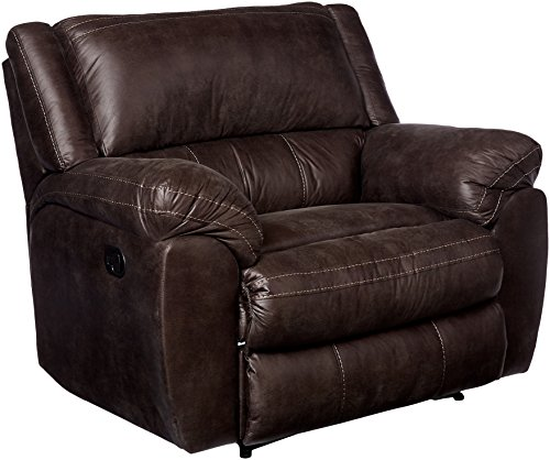 Cheap Simmons Upholstery 50433BR-195 Shiloh Granite Cuddler Recliner