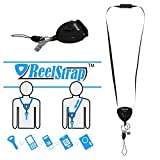 ReelStrap - The Best Id Badge Holder. Better Than Badge Reels or Retractable Lanyards. (1 pc)