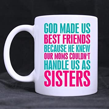 Popular Funny Christians Bible Quotes Mug God Made Us Best Friends