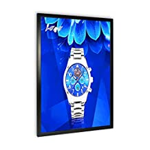 "Elegant Ultra Slim LED Light Box Illuminate Store Sign Holder - Centch Edgelit Acrylic with Aluminum Snap Open Frame Menu Board for Fast Food Thickness 0.45"" EFT Type 16"" x 20"" Single Sided Black"