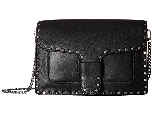 Rebecca Minkoff Women's Midnighter Medium Crossbody w/Chain Black Crossbody Bag