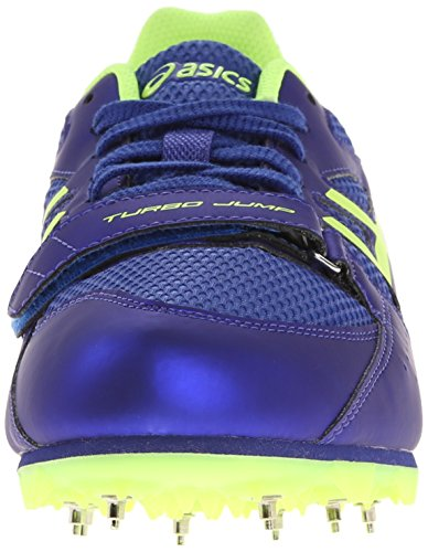 Asics Turbo Jump 2 pista y campo zapatos Deep Blue/Flash Yellow