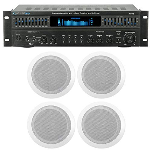 """Technical Pro RX113 Home Theater Amplifier Receiver+ 6.5"""" Ce"""