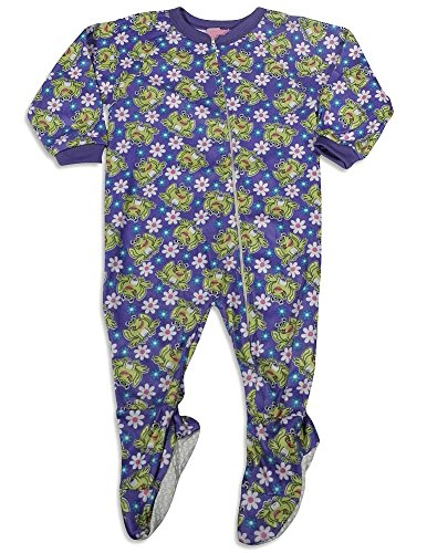 Sleeper Frog Girls Footed (Carters Watch the Wear - Little Girls' Frog Blanket Sleeper, Purple 27877-4)