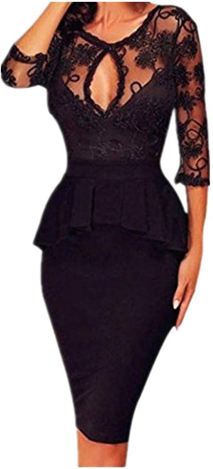 Kleider Damen Dasongff Damen Elegantes Abendkleid Bleistiftkleid