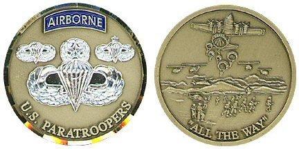 Airborne Paratrooper Challenge Coin