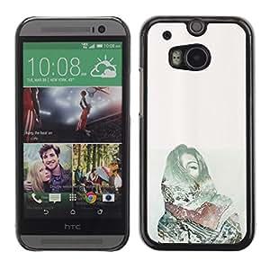 Caucho caso de Shell duro de la cubierta de accesorios de protección BY RAYDREAMMM - HTC One M8 - Pain Deep Dark Money Green
