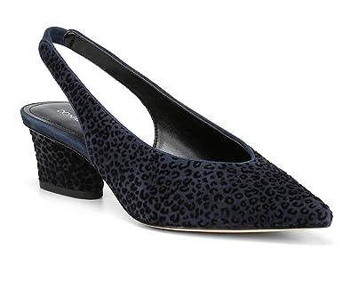 46d2e5b7391 Amazon.com  Donald Pliner Navy Suede Gema Slingback Pump  Shoes