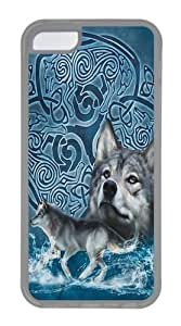 Celtic Wolf Custom iPhone 5C Case Cover TPU Transparent