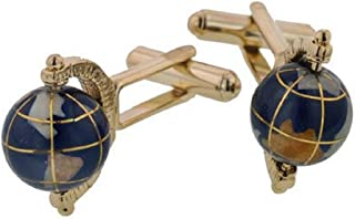 product image for JJ Weston Spinning Globe Cufflinks. Made in The USA.