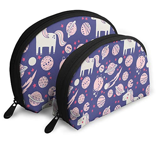 - ElephantAN Drawing Unicorn Planet Multifunction Shell Portable Bags,Storage Bag,Buggy Bag,Travel Cosmetic Bags,Small Makeup Clutch,Pouch Cosmetic,Toiletries Organizer Bag