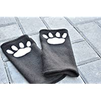 Paw Gloves - Fingerless Wrist Warmers - Wrist Paw Warmers - Arm Warmers - Fleece Arm Warmers - Paw Arm Gloves - Cat Paw Gloves - Meow Gloves - Christmas Gift