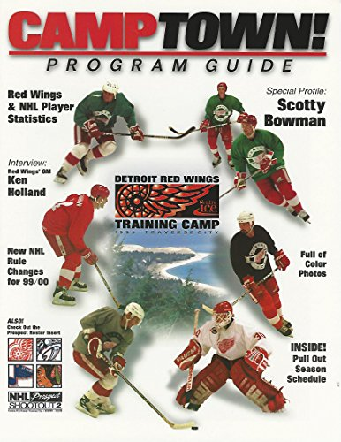 99/00 Detroit Redwing CAMPTOWN Program Guide Detroit Red Wings Roster