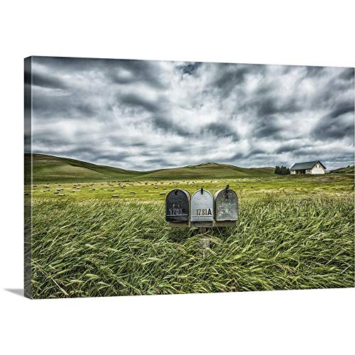 Scott Stulberg Solid-Faced Canvas Print Wall Art Print Entitled Mailboxes in Rural Area of The Palouse, Washington 24