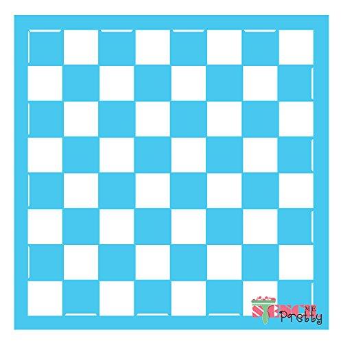 Chess / Checkers Board Stencil - (2X Large- 19