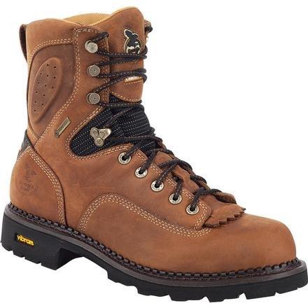 Georgia Boot G025 Men's 8-in Gore-Tex ComfortCore Logger Boot Brown 11.5 M US