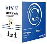 250 feet cat 6 cable - New 250 ft Bulk Cat6 (CCA) Ethernet Cable/Wire UTP Pull Box 250ft Cat-6 (CCA) Grey ~ VIVO (CABLE-V015)