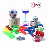 EDsports 12 Pack Bundle Sensory Toys Set-Fidget Anti Stress Cube/Bike Chain/Liquid Motion Timer and Squeeze Toys Value Assortment-Stress Relax Toys for ADD/ADHD Child Adults
