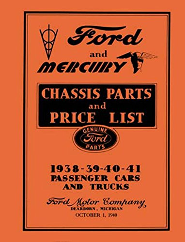 1938 1939 1940 1941 Ford Mercury Parts Numbers Book List Guide Interchange (1940 Ford Parts)