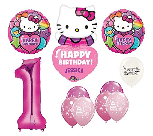 The Ultimate Personalized Hello Kitty 1st Birthday Party Event Bouquet of Balloons