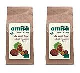 italian chestnut flour - (2 PACK) - Amisa Gluten Free Organic Chestnut Flour| 350 g |2 PACK - SUPER SAVER - SAVE MONEY